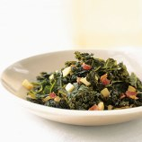 braised kale with bacon and cider