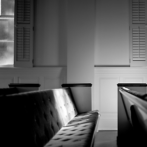 image of empty church pews