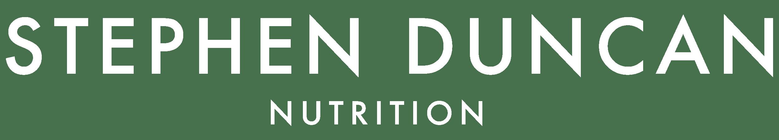 Stephen Duncan Nutrition Logo