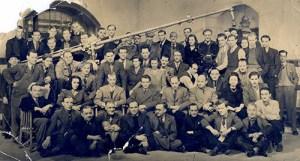 Old Hollywood film crew