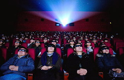 Cinema audience watch movie