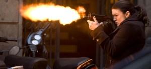 Gunfire in an action movie