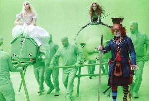 Crew credits on Alice in Wonderland