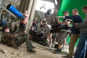 Harry Potter crew on set
