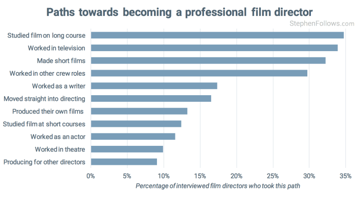 Become a film director paths