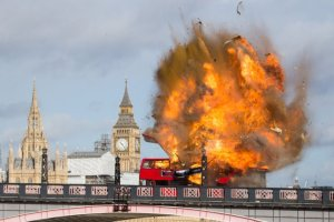 London brigde bus explode filming