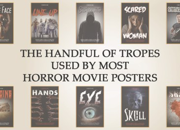 The handful of tropes used by most horror movie posters   Stephen