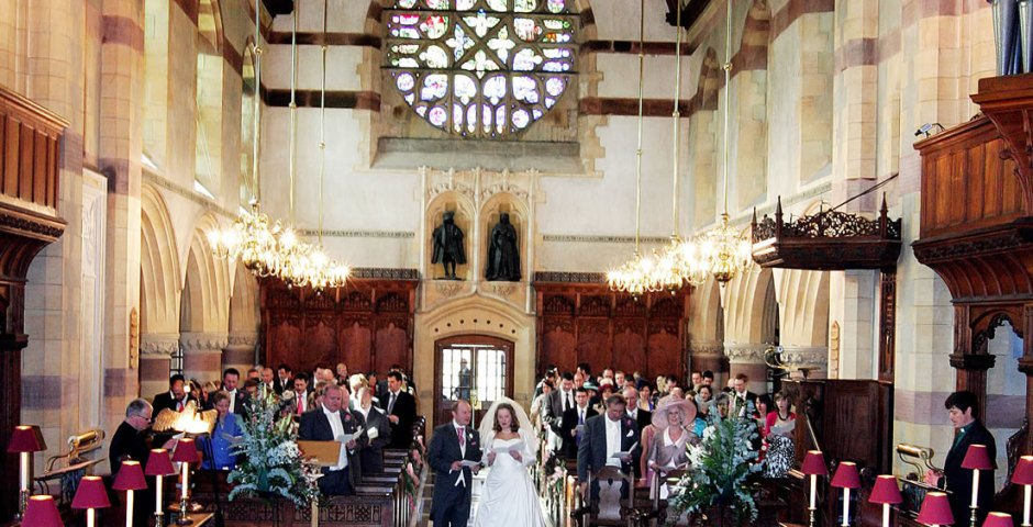 Wedding at Giggleswick Chapel