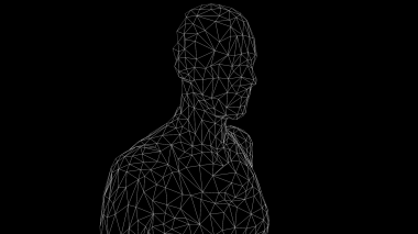 White Wireframe (Torso/Quarter View)