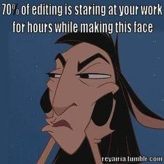 Editing - Staring