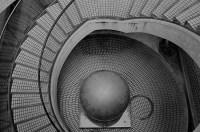 """Fritz Koenig's """"Bronze Sphere"""", Embarcadero Center, San Francisco"""