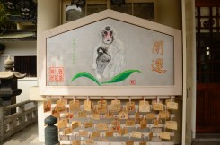 Monkey Sign at Yasaka-Jinja Shrine, Namba