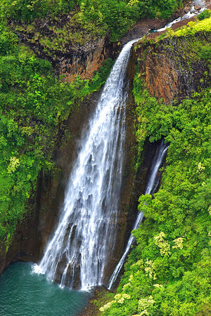 Jurassic Park WaterfallsAerial ShotKauai, HiAugust 2012