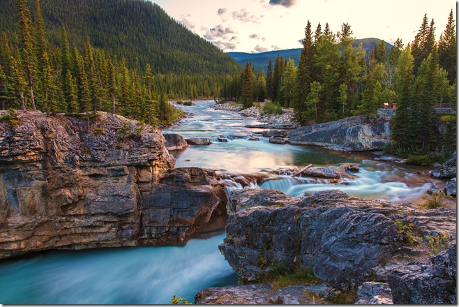Elbow Falls AB Sunset