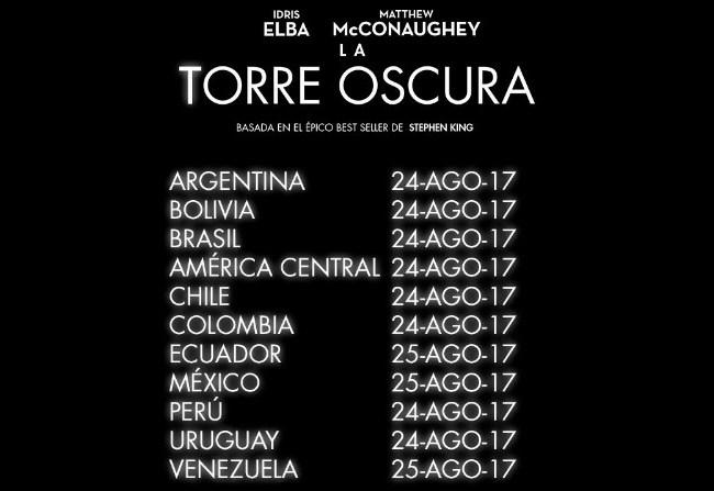 La torre oscura: Fechas de estreno en Latinoamérica