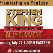 Stephen King lee un fragmento de Billy Summers
