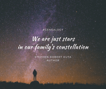 We are just stars in our family's constellation