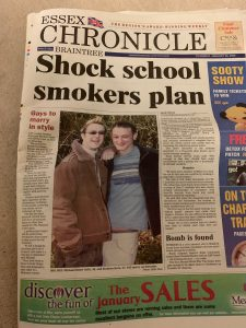 Essex Chronicle - Thursday 26th January 2006 - Gay Marriage / Civil Partnership