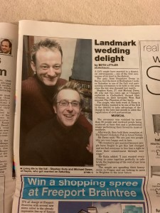 Braintree and Witham Times - Wednesday 1st February 2006 - Gay Marriage / Civil Partnership