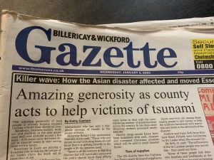Billericay and Wickford Gazette - Wednesday - 5th January 2005 - Stephen Robert Kuta