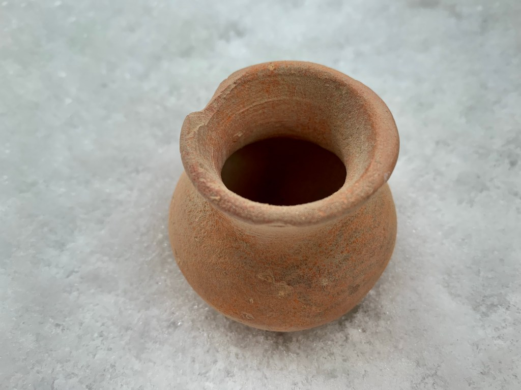 Ancient Roman Terracotta Small Vessel
