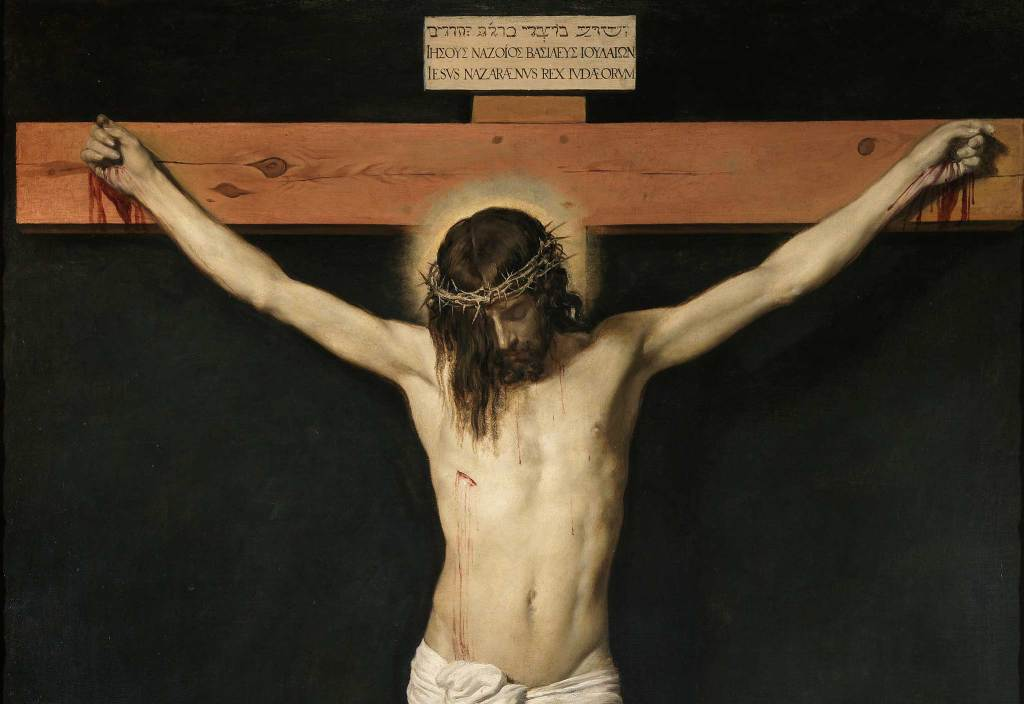 Painting of the crucifixion of Jesus. Artist Diego Valazquez