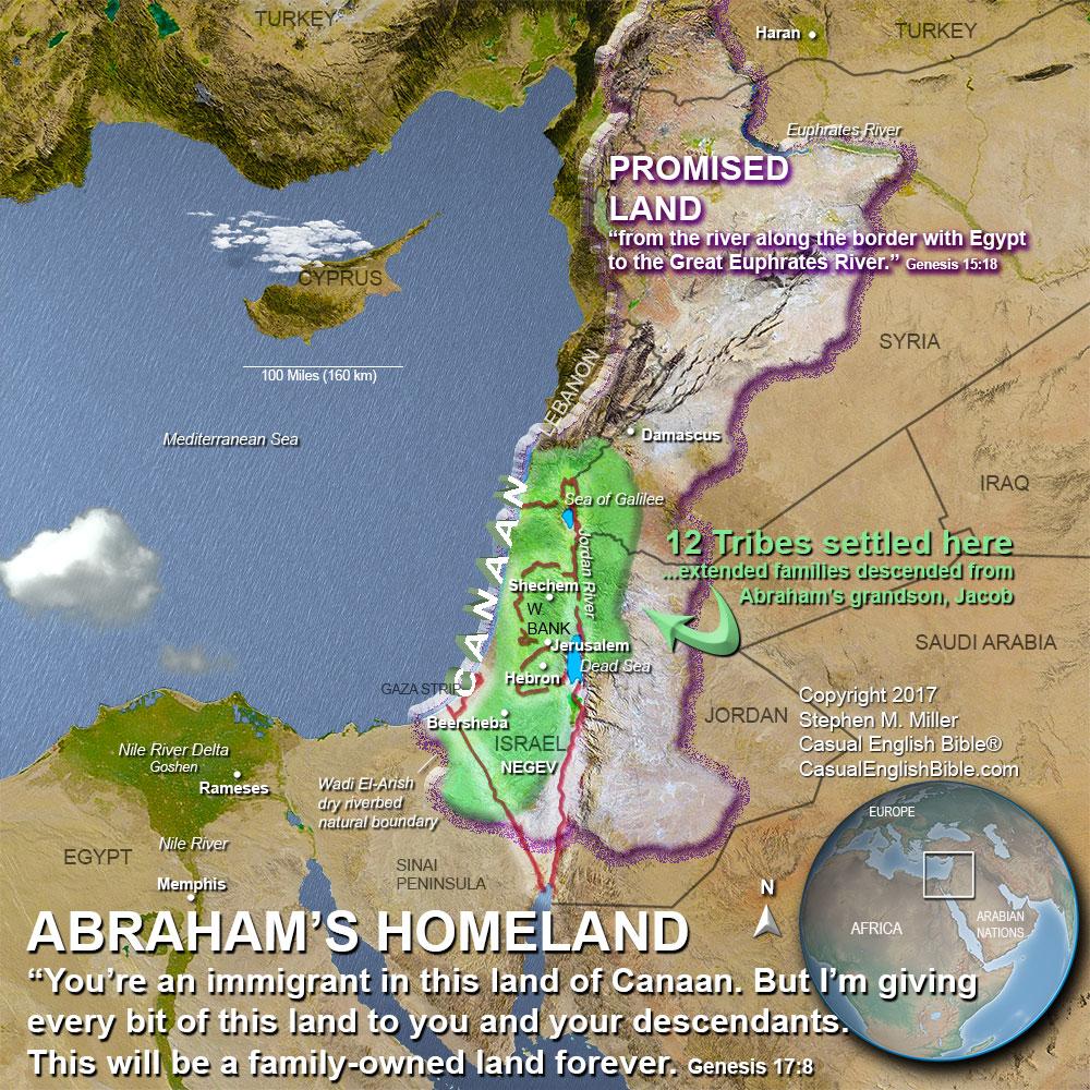 map of Promised Land, copyright Stephen M. Miller