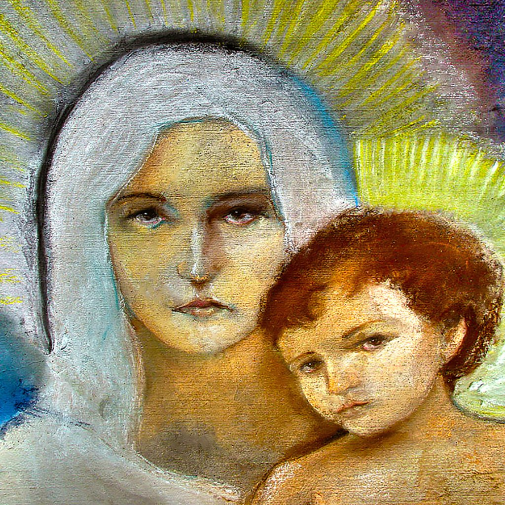 Art of Mary and child