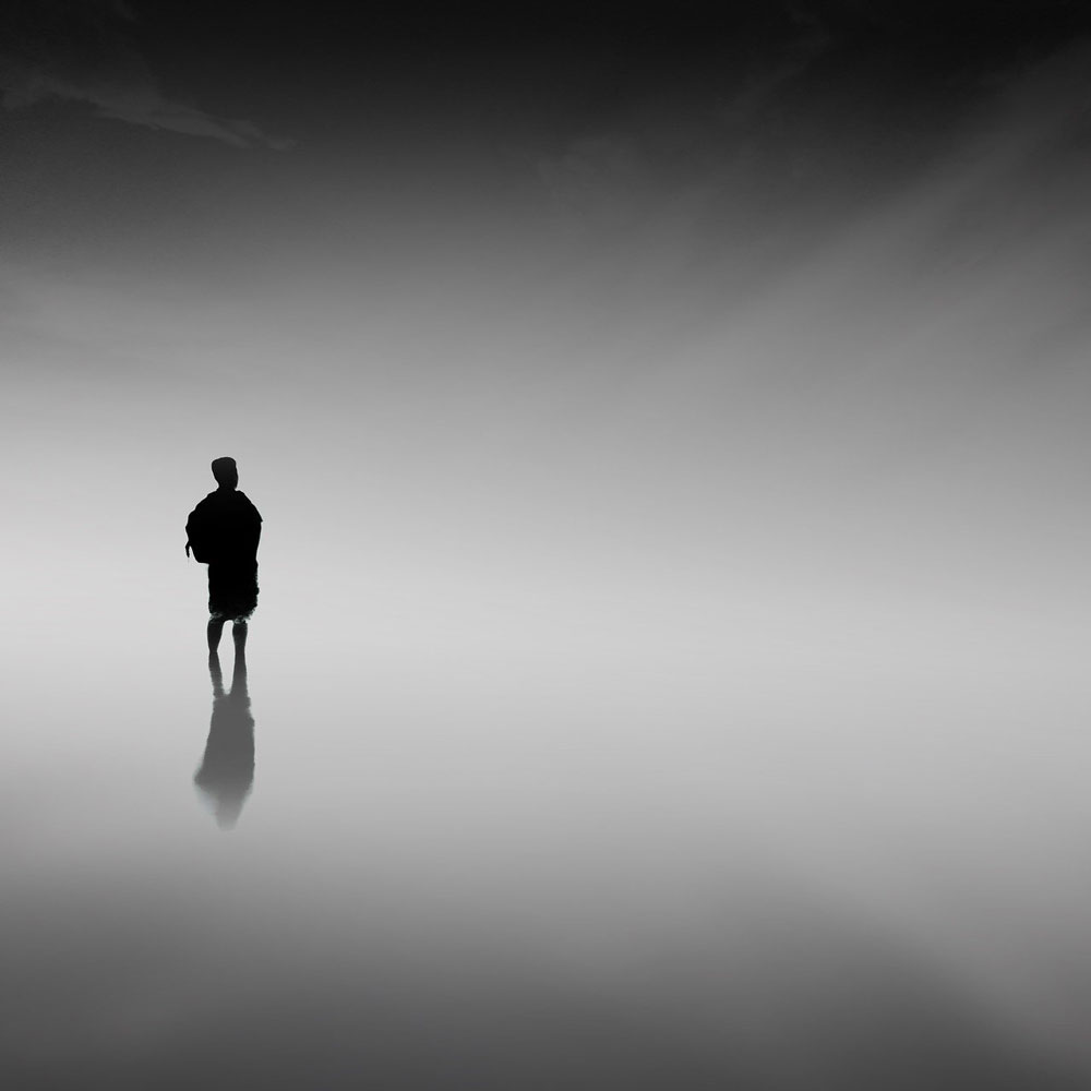 man in a fog