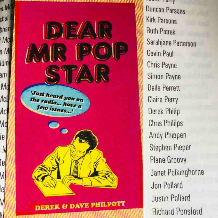 dear mr pop star book