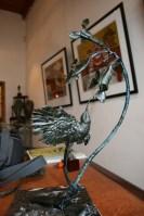 Sunbird, sculpture,