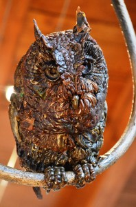 Character from The Owl and Pussycat sculpture. Wax For Bronze.
