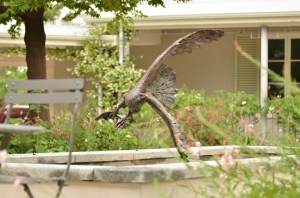 Fish Eagle statue, Trout sculpture
