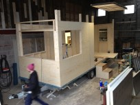 end of day three - taking shape, almost all the walls up.