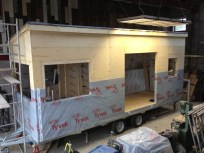One third wrapped in TYVEK HOUSEWRAP