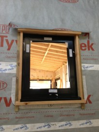 First, finished, framed window