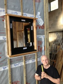 Our first window, that we framed ourselves, on our own!
