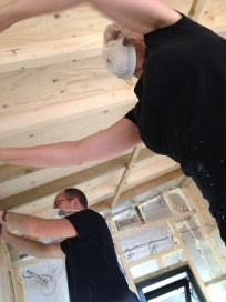 Cutting insulation to fit trickle vents