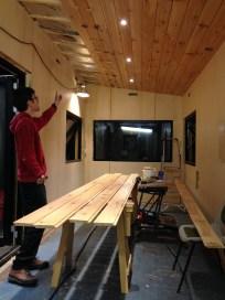 Thirteenth ceiling board installed