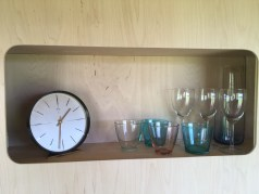 Feature alcove with retro clock