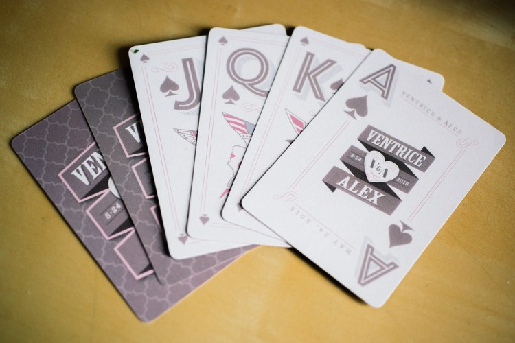 Custom deck of cards wedding favor