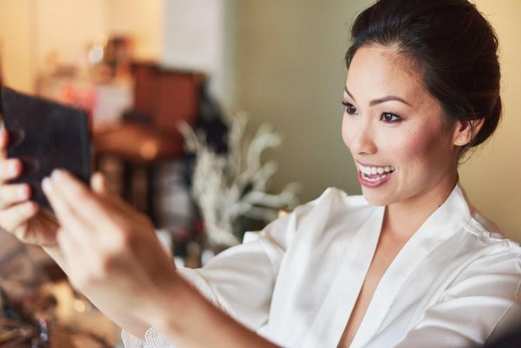 Bride wedding makeup reveal Hills Hotel Laguna Hills