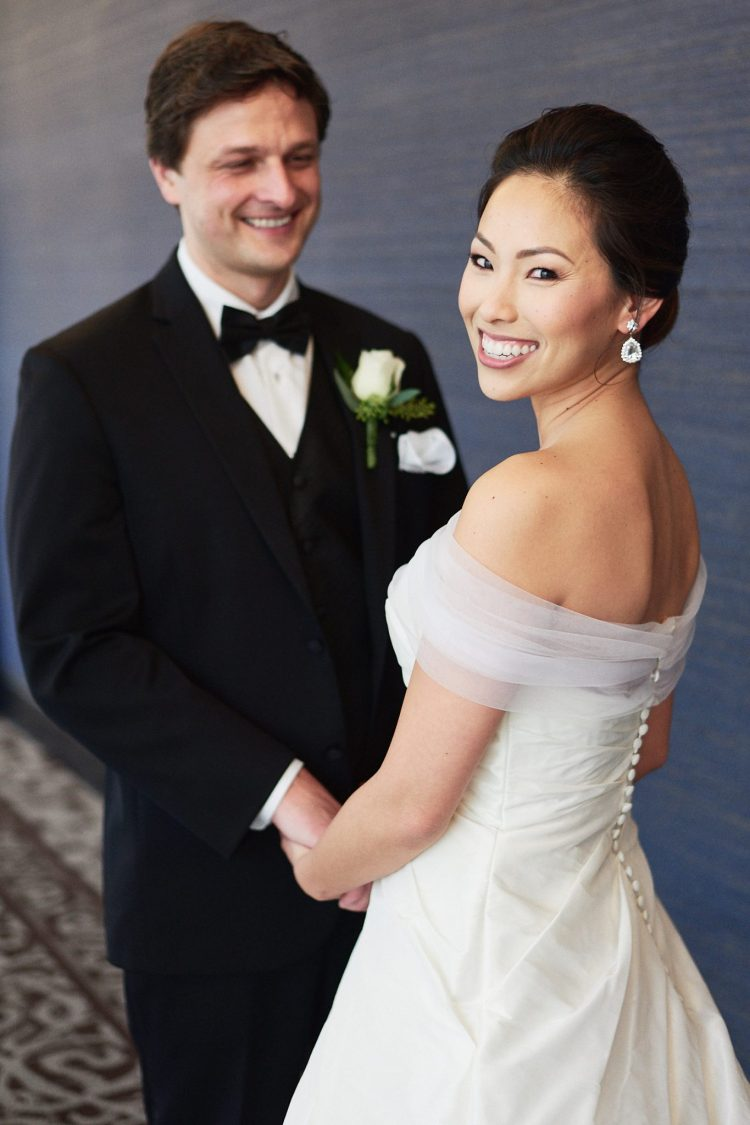 Wedding first look Hills Hotel Laguna Hills