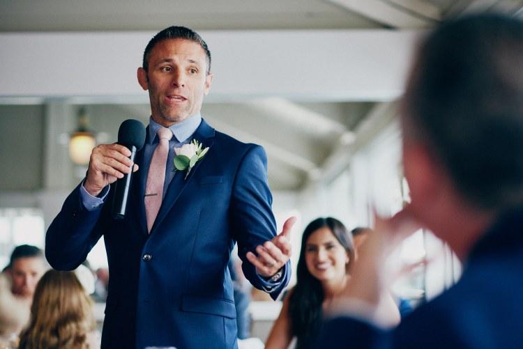 Wedding reception speech Bluewater Grill -Stephen Tang Photo