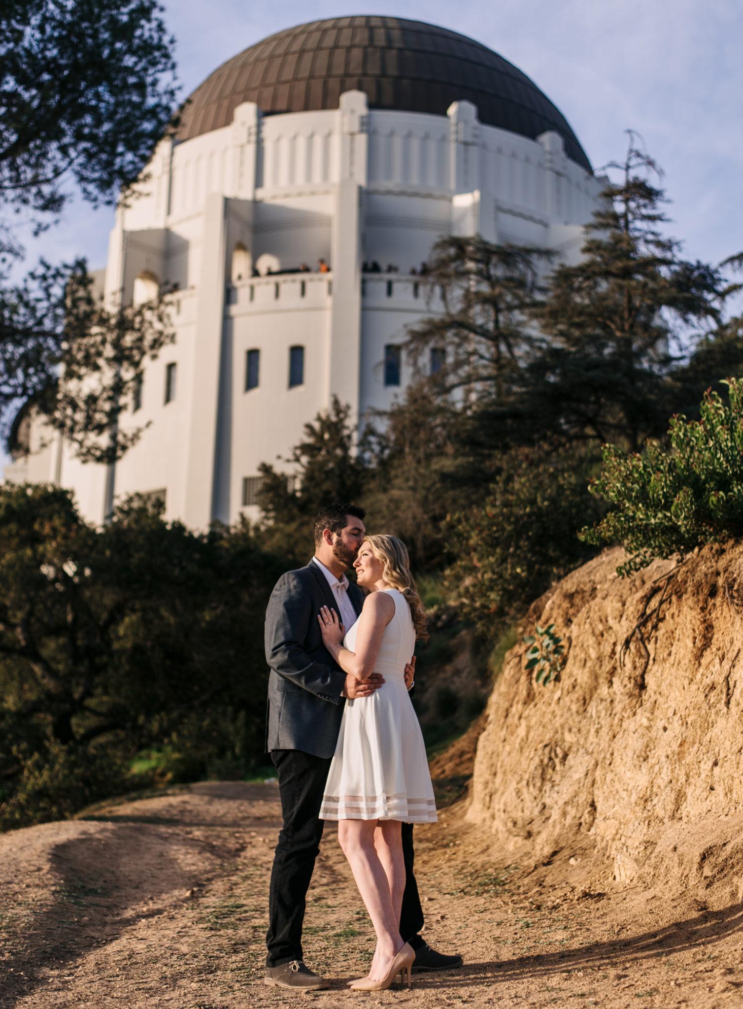 Sunset Portrait - Griffith Observatory engagement session