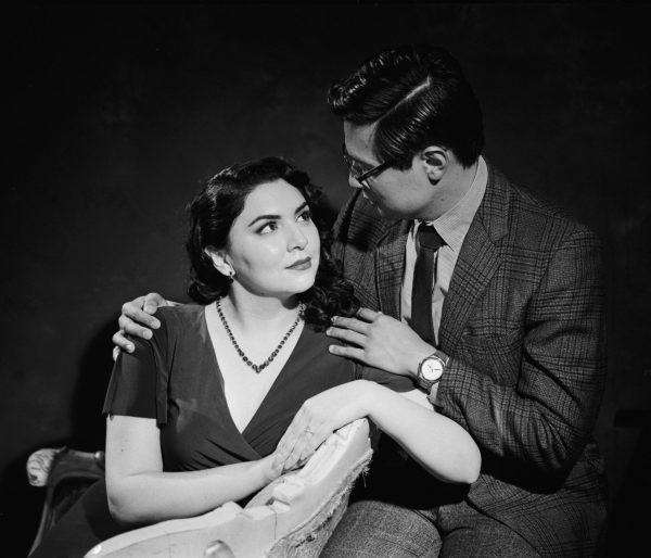 Classic Hollywood engagement portrait