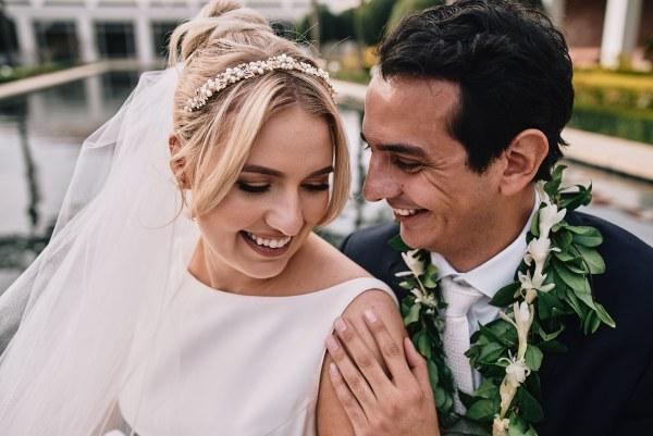 Bride and groom Richard Nixon Library & Museum