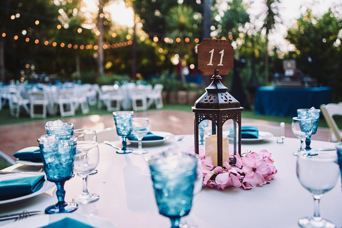 Hartley Botanica wedding centerpiece outdoors