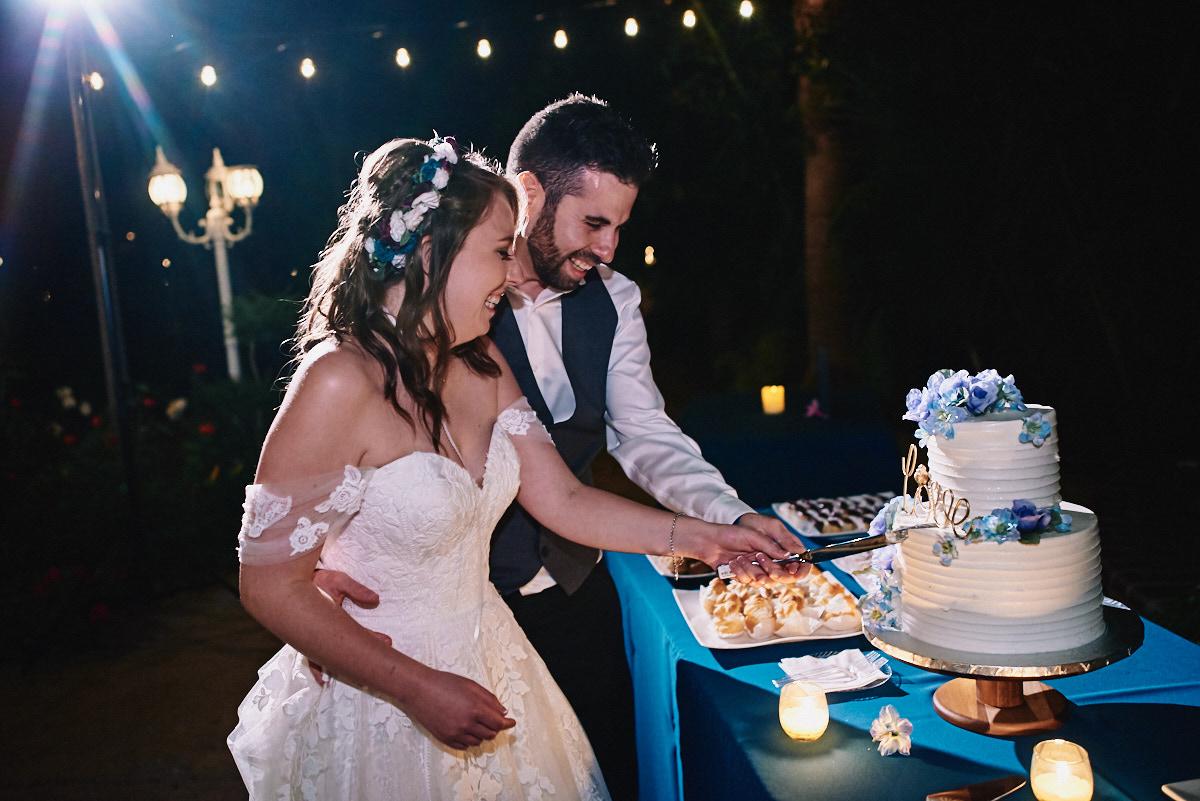 Hartley Botanica wedding cake cutting