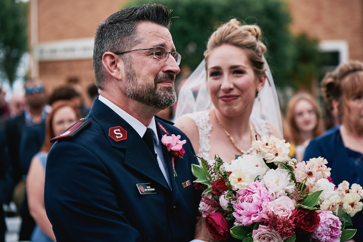 Salvation Army Crestmont College wedding ceremony